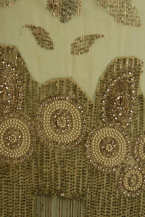 303: JEWELED FLAPPER DRESS with BEADED FRINGE, 1920's.  - 5