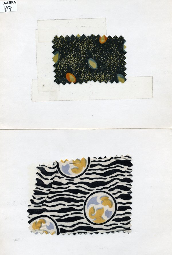 1: LOT of CARDED FABRIC SAMPLES, 1890-1959. Printed sil