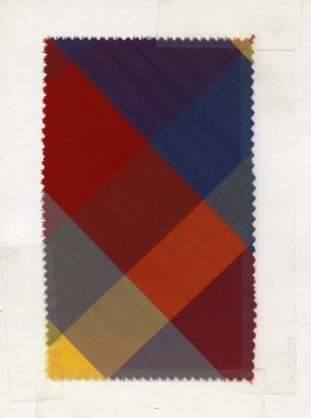 LOT Of CARDED FABRIC SAMPLES, 1920-1960. Woven Silk