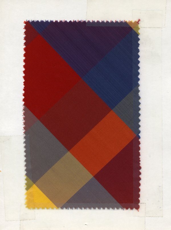 3: LOT of CARDED FABRIC SAMPLES, 1920-1960. Woven silk