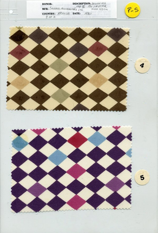 8: LOT of CARDED FABRIC SAMPLES, 1850-1970. Printed woo