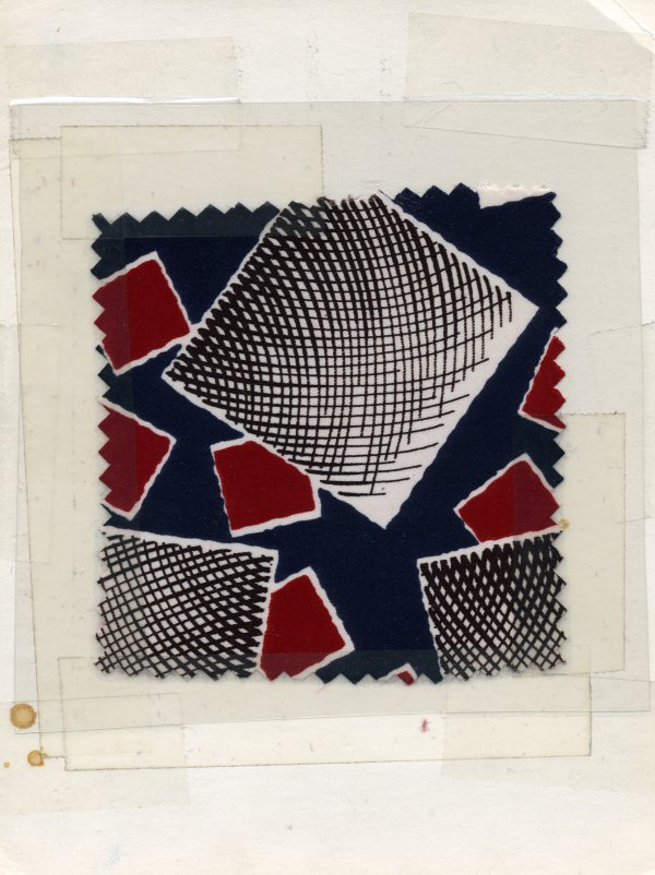 9: LOT of CARDED FABRIC SAMPLES, 1890-1990. Printed sil