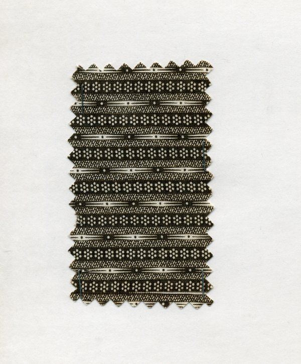 10: LOT of CARDED FABRIC SAMPLES, 1860-1950. Printed co