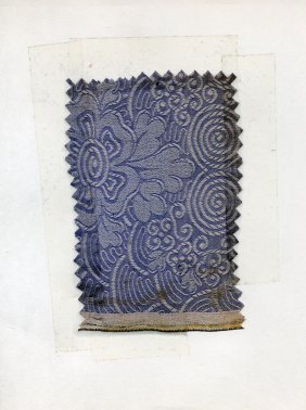 13: LOT of CARDED FABRIC SAMPLES, 1850-1919. Woven silk