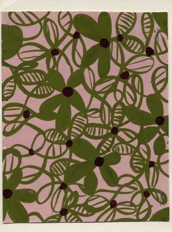 16: LOT of CARDED FABRIC DESIGNS, 1930-1960. Original d