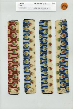 17: LOT of CARDED FABRIC SAMPLES, 1850-1969. Warp print