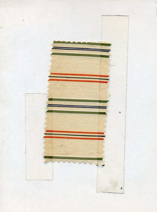 20: LOT of CARDED FABRIC SAMPLES, 1900-1909. Woven cott - 4