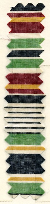 20: LOT of CARDED FABRIC SAMPLES, 1900-1909. Woven cott - 5