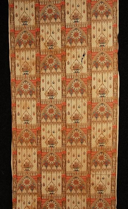 570: ENGLISH ROLLER PRINTED COTTON, c. 1850. In a patte