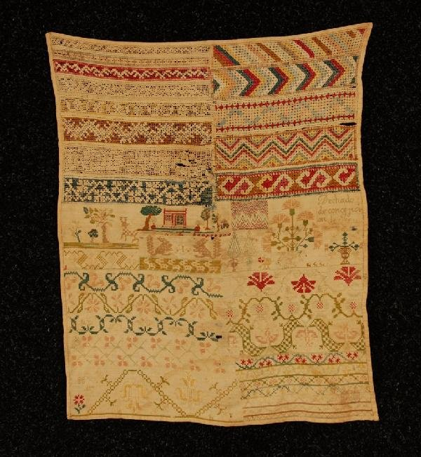 577: MEXICAN or SPANISH COLONIAL SAMPLER, LATE 18th C.