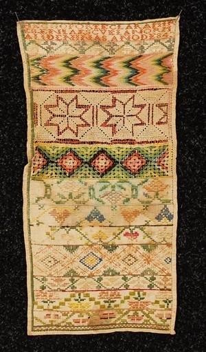 578: MEXICAN CONVENT GIRLHOOD NEEDLEWORK SAMPLER, 18th