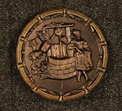 19: THE WISHING WELL BUTTON. Large tinted gound having