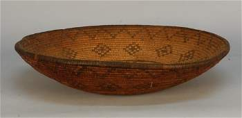 348: NATIVE AMERICAN APACHE TRAY, 1890-1920. Four-point