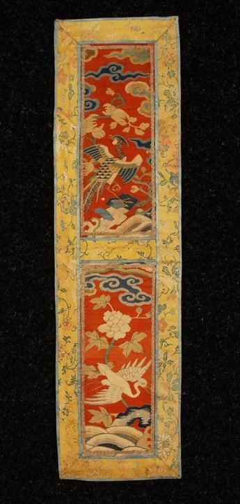 374: PAIR CHINESE KESU PANELS, CHIEN LUNG, 18th C. Two