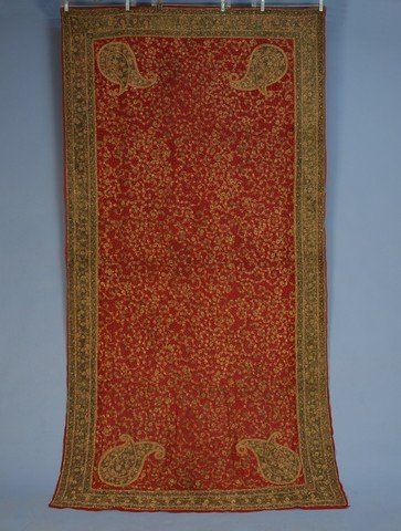 392: INDIAN GOLD EMBROIDERED TABLE COVER, EARLY 20th C.