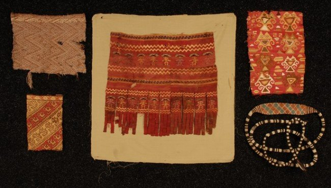 397: GROUP of PRE-COLUMBIAN TEXTILE FRAGMENTS, 15th C.