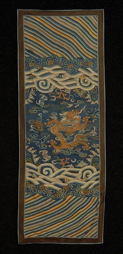 113: CHINESE KESU PANEL and LOT of EMBROIDERIES, 19th-2
