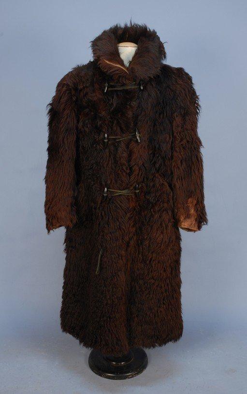 311: MAN'S BUFFALO FUR COAT, LEAK MFG. CO., 1890-1900.