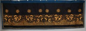 7: CHINESE EMBROIDERED PANEL, EARLY 20th C. Large horiz