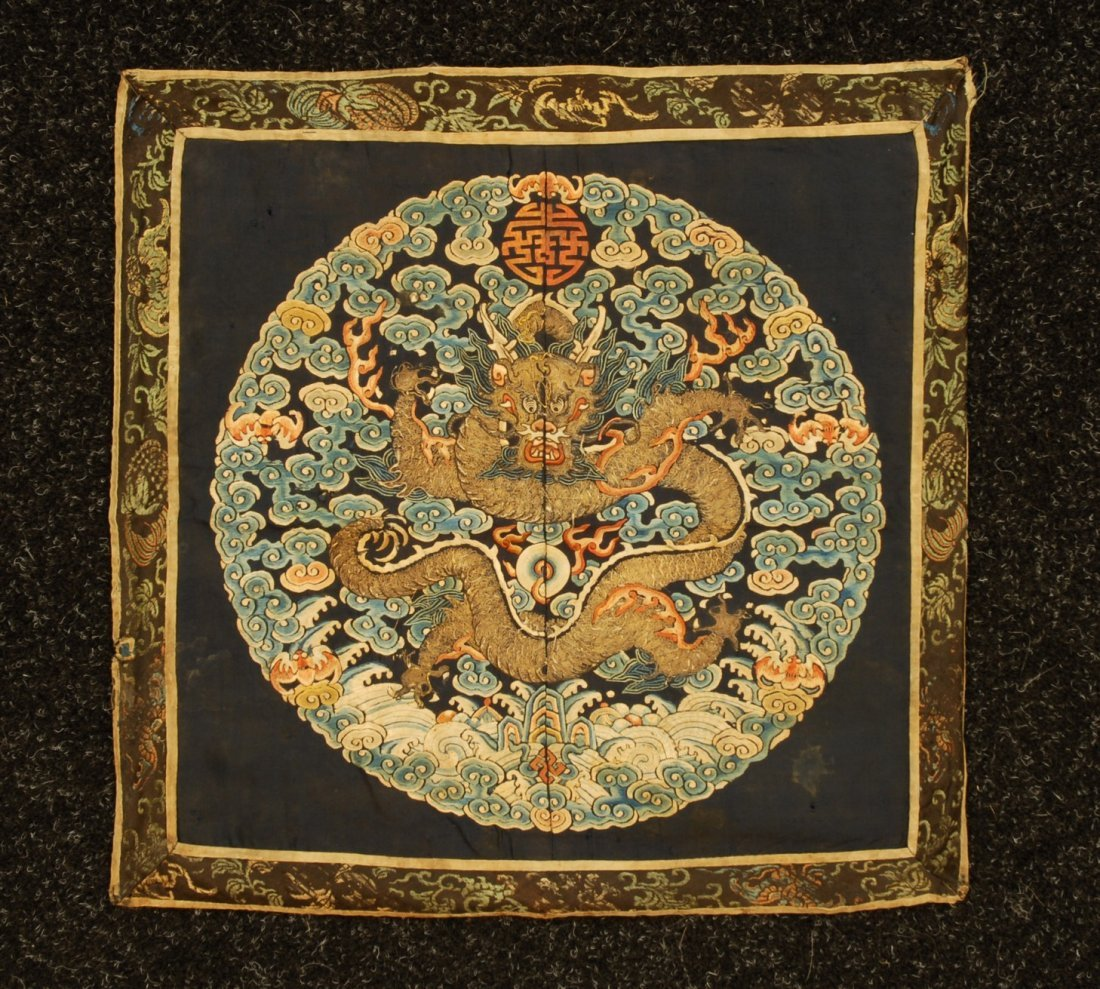 14: CHINESE IMPERIAL SURCOAT RANK BADGE with DRAGON, 19