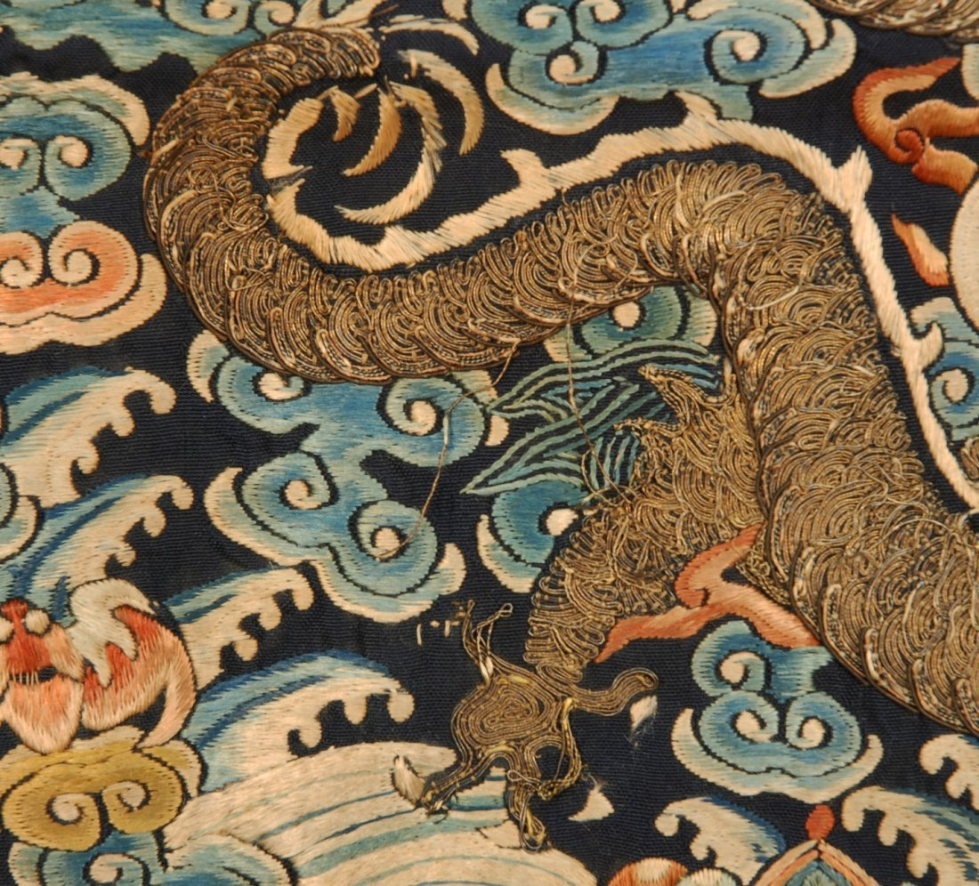 14: CHINESE IMPERIAL SURCOAT RANK BADGE with DRAGON, 19 - 4