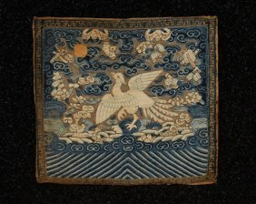 15: CHINESE KESU TAPESTRY WEAVE RANK BADGE, EARLY 19th