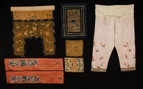 21: LOT of CHINESE EMBROIDERIES, 19th-EARLY 20th C. Inc
