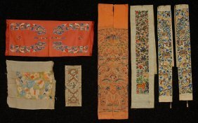 22: CHINESE SILK EMBROIDERIES for GARMENTS, EARLY 20th