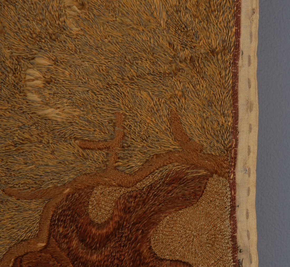 57: JAPANESE SILK EMBROIDERED PANEL, EARLY 20th C. Elab - 3