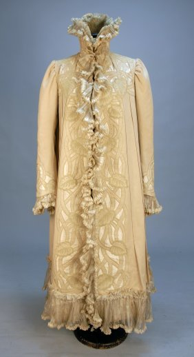 LADY'S ART NOUVEAU COAT With CUTWORK And EMBROIDER