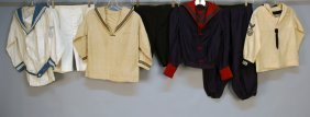 THREE BOY'S SAILOR SUITS, 1900-1925. One Wool Havi