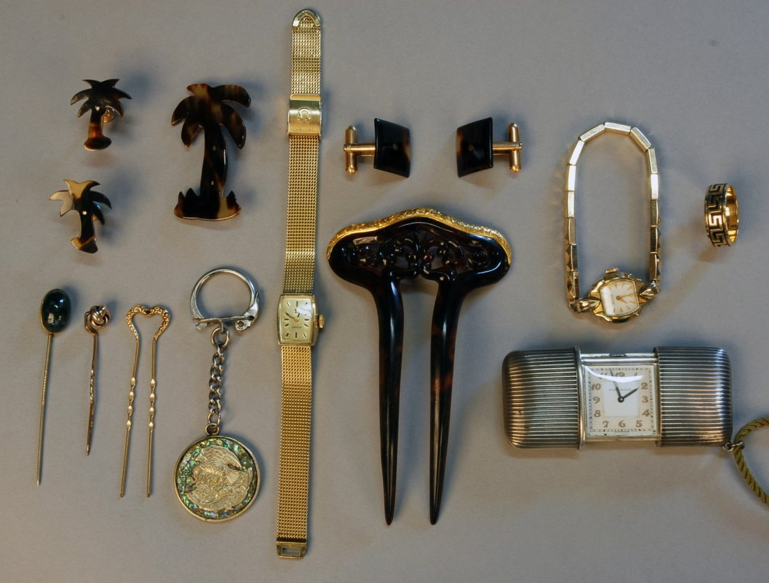 804: LOT of ASSORTED JEWELRY, 20th C. 14K gold wedding