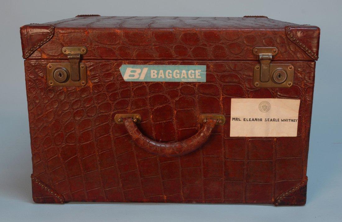 850: THREE PIECES MARK CROSS WINE RED ALLIGATOR LUGGAGE - 2