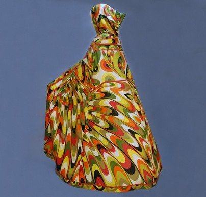 890: PUCCI KALEIDOSCOPIC HOODED SILK RESORT CAPE, c. 19