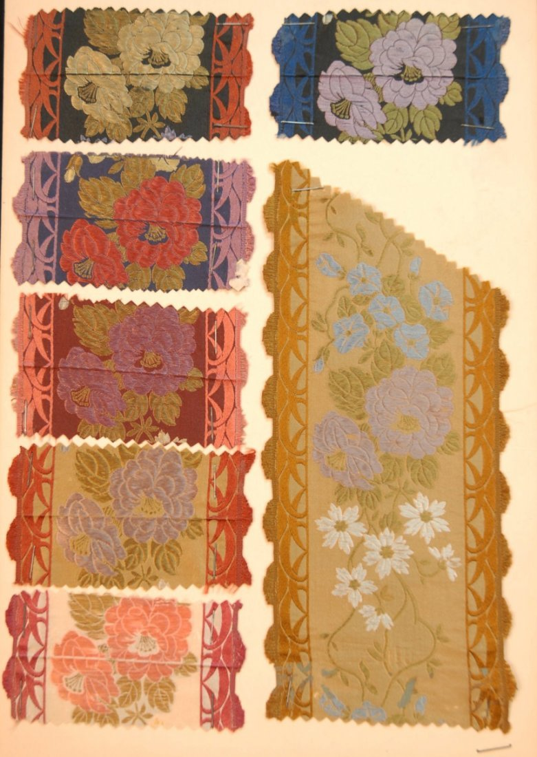 2: LOT of SILK RIBBON SAMPLES, 19th and 20th C.
