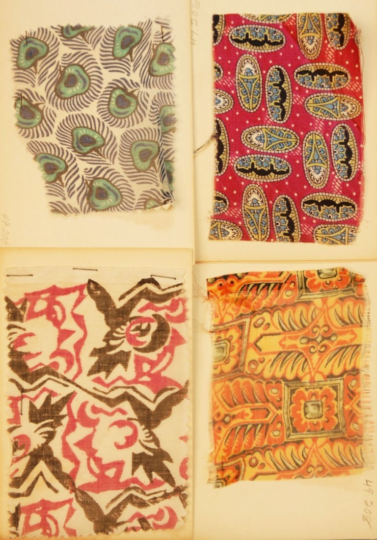 3: LOT of CARDED FABRIC SAMPLES, 19th and 20th C.