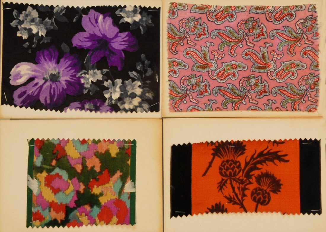 4: LOT of CARDED FABRIC SAMPLES, 19th and 20th C.