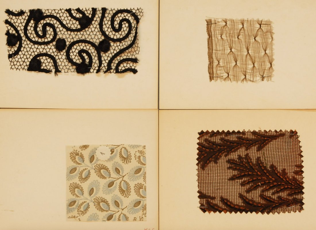 6: LOT of CARDED FABRIC SAMPLES, 19th and 20th C.