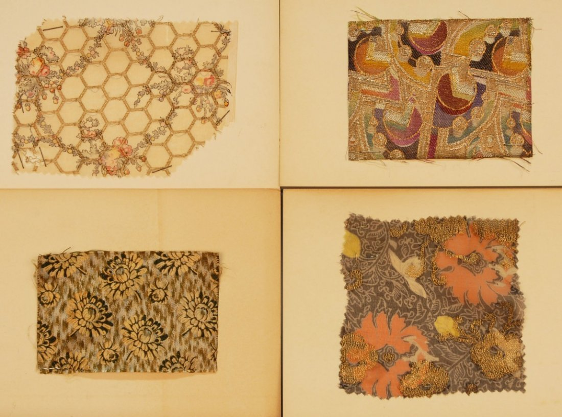 9: LOT of CARDED FABRIC SAMPLES, 19th and 20th C.