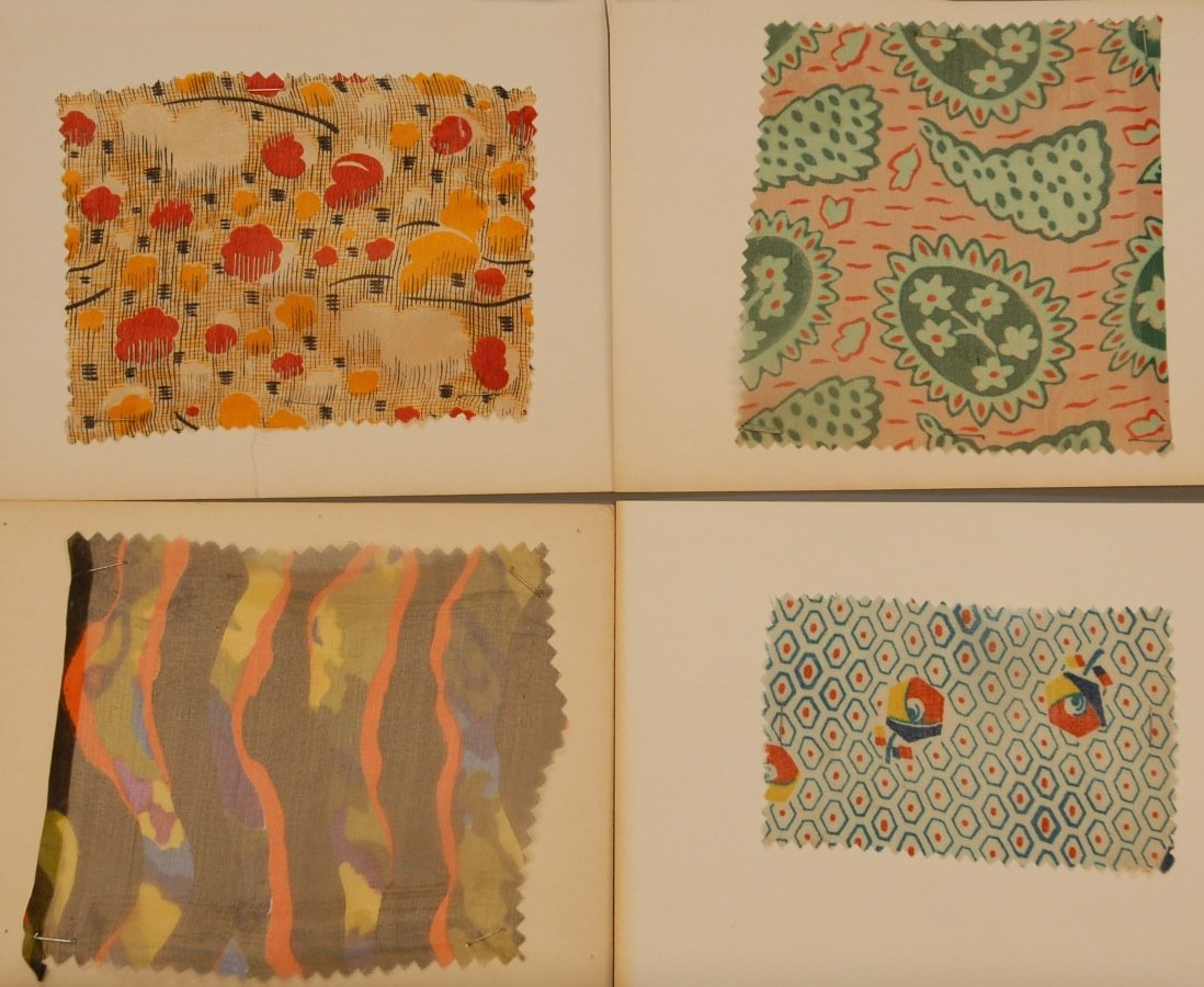 13: LOT of CARDED FABRIC SAMPLES, 19th and 20th C.