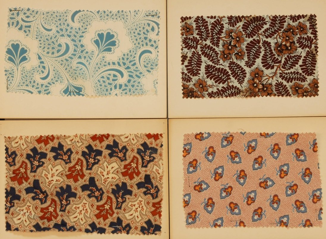 14: LOT of CARDED FABRIC SAMPLES, 19th and 20th C.