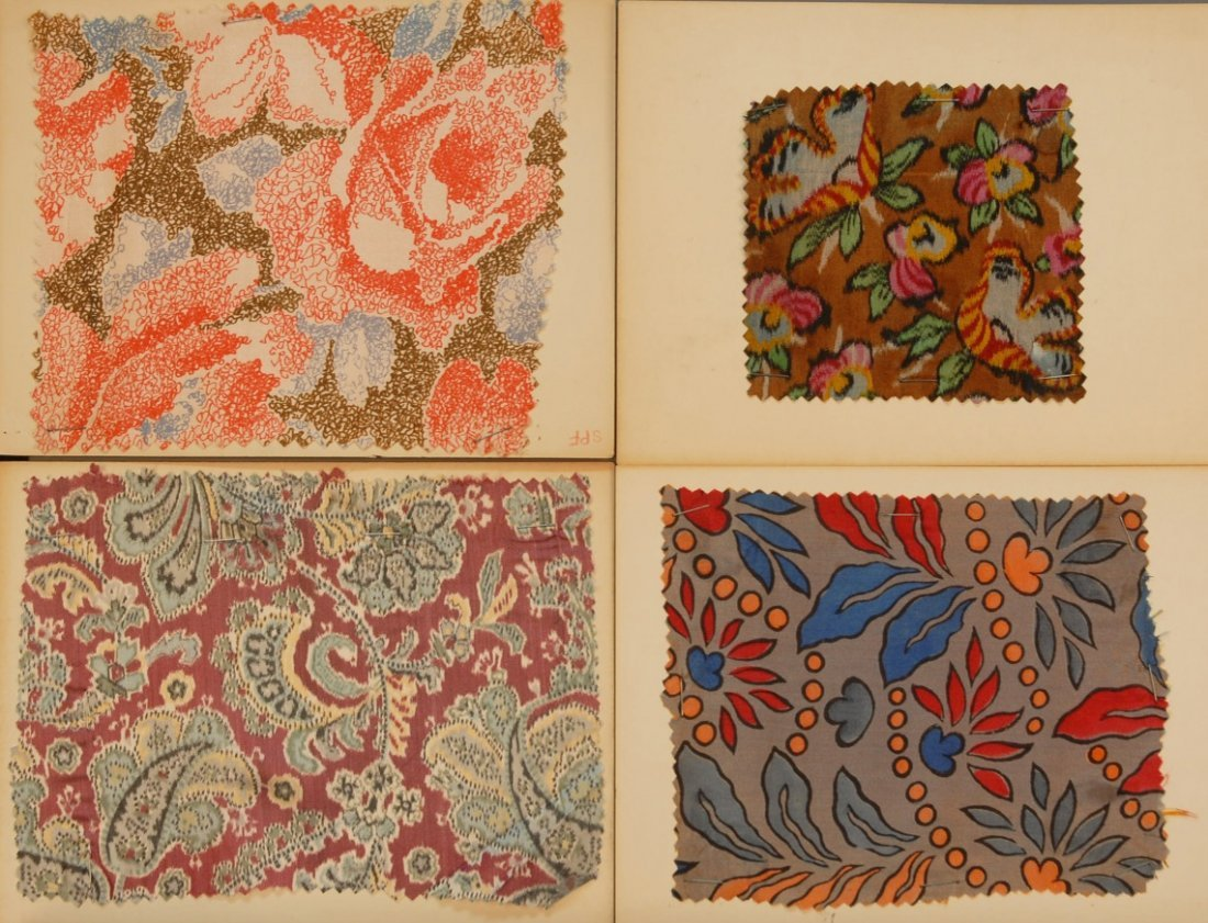 16: LOT of CARDED FABRIC SAMPLES, 19th and 20th C.