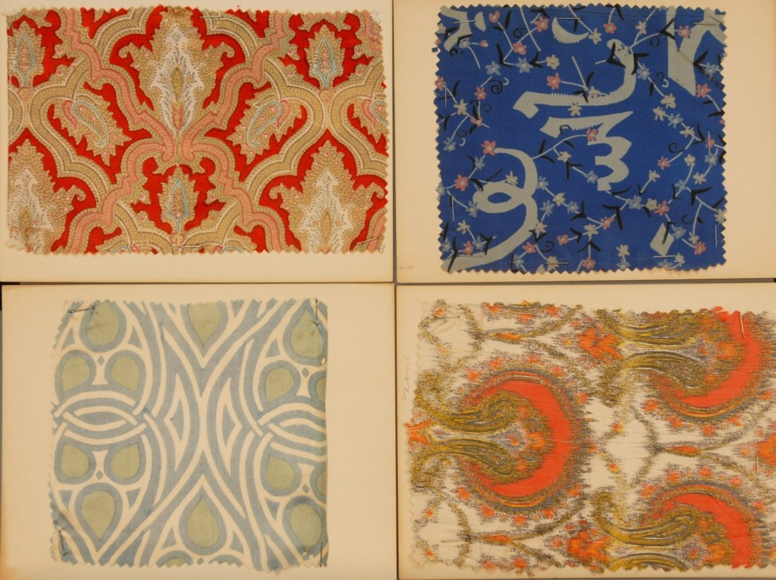 17: LOT of CARDED FABRIC SAMPLES, 19th and 20th C.