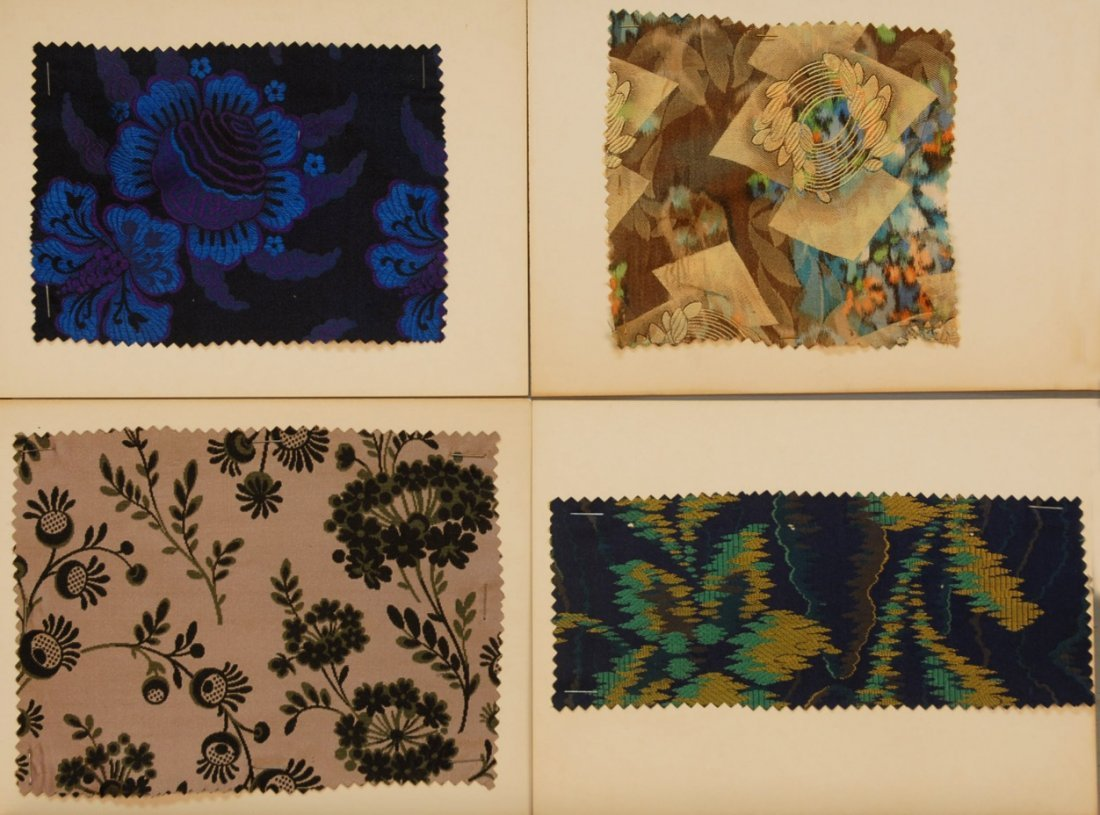 21: LOT of CARDED FABRIC SAMPLES, 19th and 20th C.