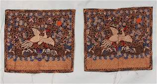 75: PAIR of CHINESE RANK BADGES, 19th C.
