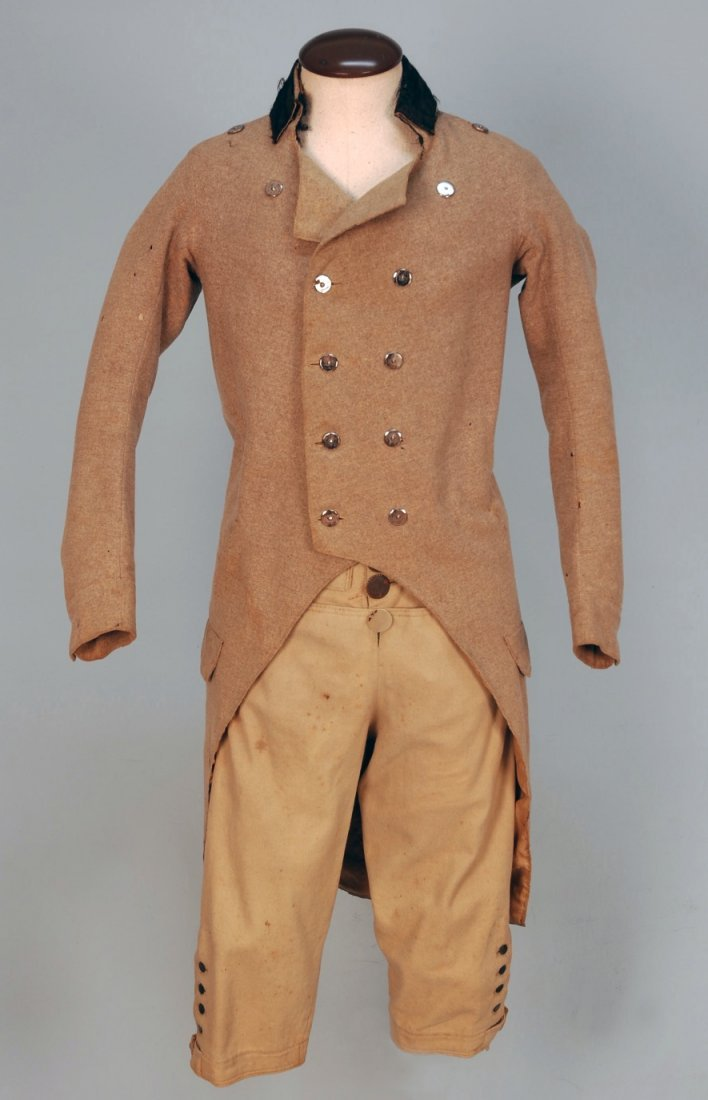 419: GENT'S EVERYDAY WOOL COAT and BREECHES, 1800-1820.