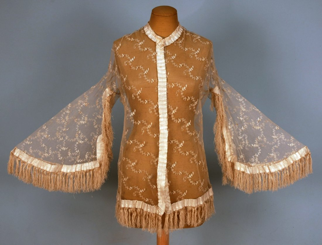 425: CREAM LACE JACKET with RIBBON TRIM, 1855.