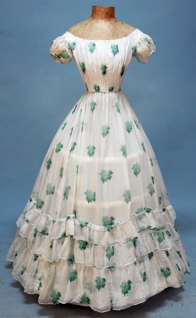 427: YOUNG LADY'S SUMMER PARTY DRESS, 1860's.