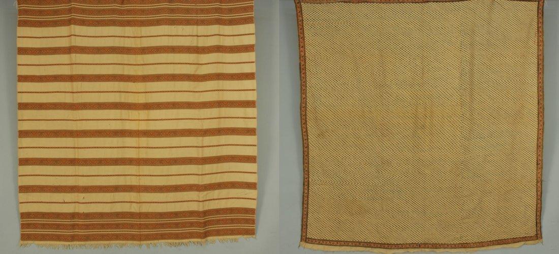 TWO KASHMIR PAISLEY SHAWLS, 19th C.