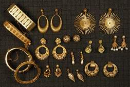 LOT of MIRIAM HASKELL GILT METAL JEWELRY.
